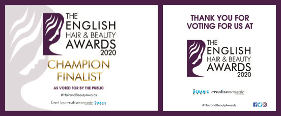 Finalist in the English Hair and Beauty Awards